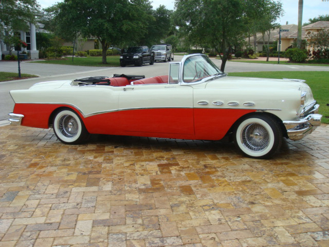 1956 Buick Roadmaster Convertible Front 3 4 66007