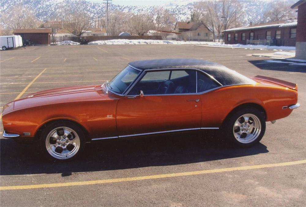 1968 chevrolet camaro rs custom coupe - front 3/4 - 71747