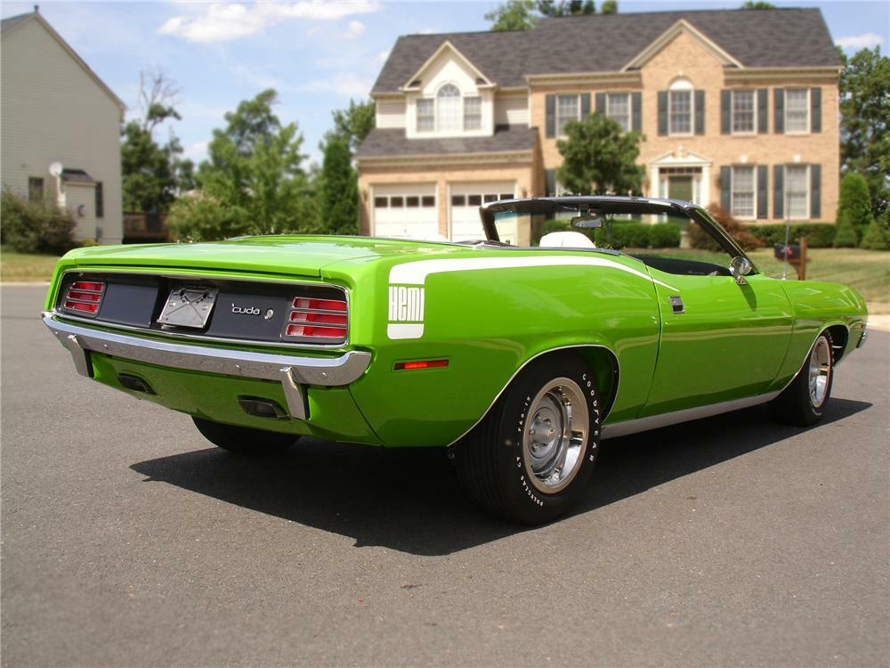 1970 Plymouth Hemi Cuda Convertible Re Creation Rear 3 4 79119