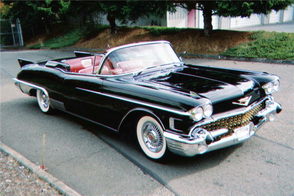 1958 Cadillac Eldorado Biarritz 2 Door Convertible Front 3 4 80948