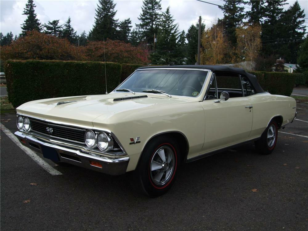 1966 Chevrolet Chevelle Ss 396 Convertible Front 3 4 81128