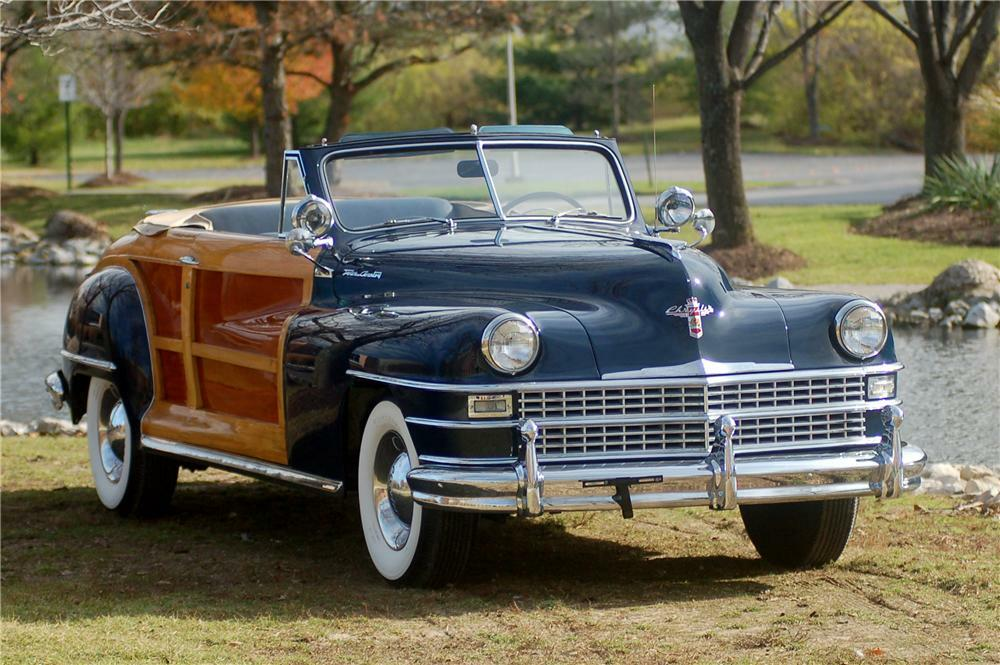 1948 Chrysler Town Country Convertible Front 3 4 81334
