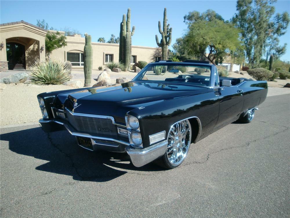 1968 Cadillac De Ville Custom Convertible Front 3 4 81802