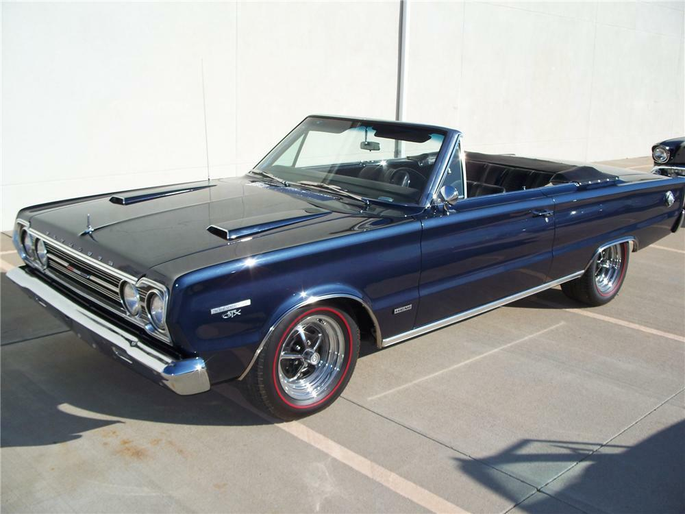 1967 Plymouth Gtx Custom Convertible Front 3 4 96564