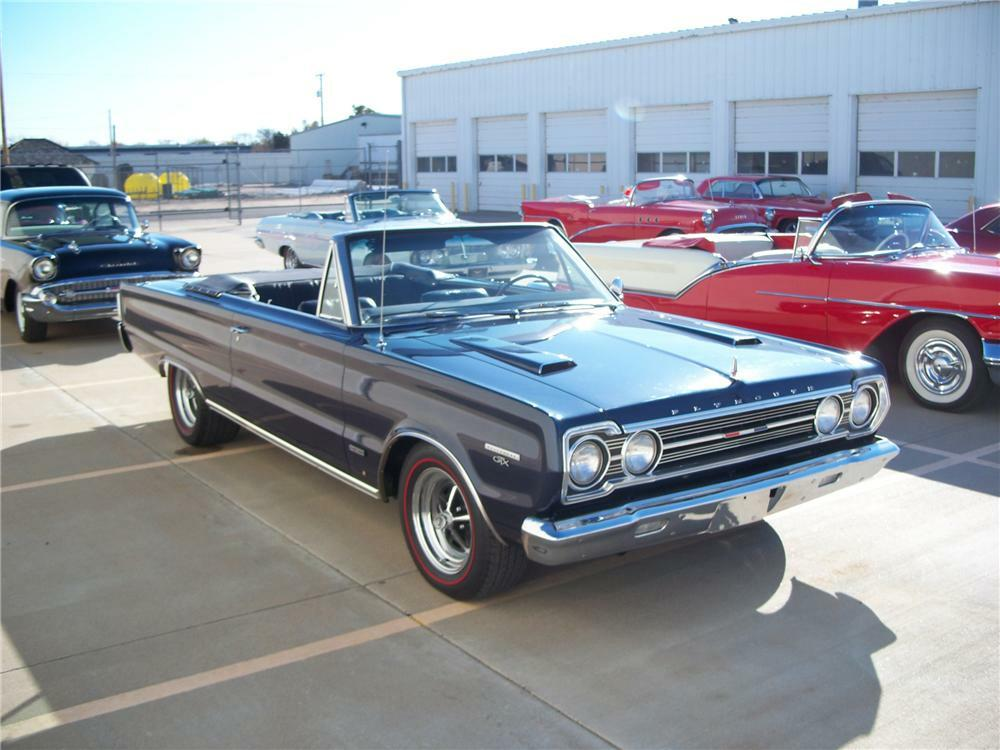 1967 Plymouth Gtx Custom Convertible Side Profile 96564