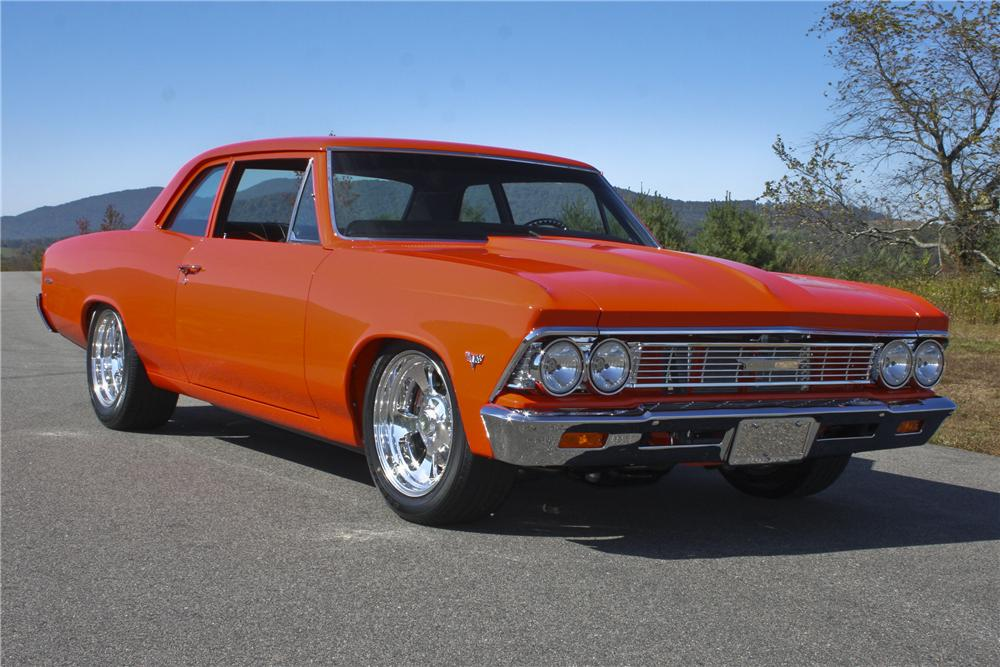 1966 chevrolet chevelle 300 custom 2 door sedan - front 3/4 - 96762