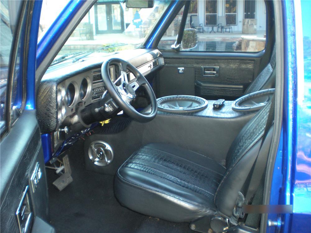 1985 chevy truck custom interior